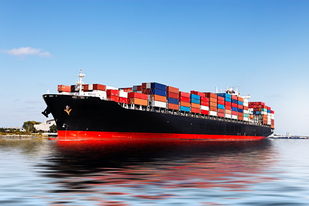 Arrow - Cargo ship in the port